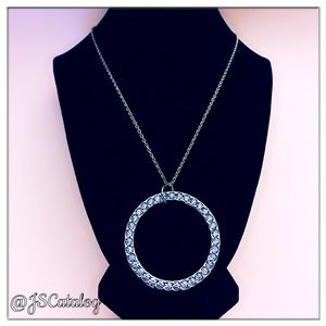 💠COMING SOON💠Oversized Blue CZ Pendant Necklace